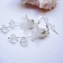 Hóvirág fülbevaló II., Nálunk virágzó hóvirág ihlette ezt a fülbeva...