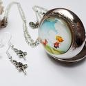"""The Little Prince - A Kis Herceg óra ezüst, Ékszer, Nyaklánc, """"Az idő, amit a rózsádra vesztegettél: az teszi olyan fontossá a rózsádat.""""  Ezt az órát szív és vir..., Meska"""