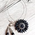 Fekete virág szett, Fekete fényes és fekete matt színű dárda gyö...