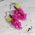 Pink virágfürt fülbevaló, Romantikus, elegáns és nem utolsó sorban egyedi...