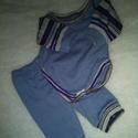 BADYS pamut szett : 40cm játékbabára, Játék, Baba játék, Badys pamut szett :40-42cm játékbabára  kb:40-42cm babához ajánlott méretben   -sötét kék c..., Meska