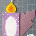 Hímezhető karácsonyfadísz - gyertya forma - Nincs postaköltség!, Választható más színben, más mintával is. Er...