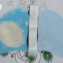 Hímezhető karácsonyfadísz - búgócsiga forma - Nincs postaköltség!, Választható más színben, más mintával is. Er...