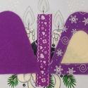 Hímezhető karácsonyfadísz, lila, hópelyhes- Nincs postaköltség!, Választható más színben, más mintával is. Er...