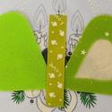 Hímezhető karácsonyfadísz, világoszöld, csillagos - Nincs postaköltség!, Választható más színben, más mintával is. Er...