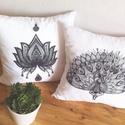Páva és Lótuszvirág dekor párna szett (2db), Dekoráció, Otthon, lakberendezés, Lakástextil, Párna, , Meska