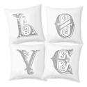 LOVE dekor párna szett (4db) INGYENES SZÁLLÍTÁSSAL, Dekoráció, Otthon, lakberendezés, Lakástextil, Párna, , Meska