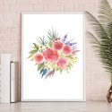 Vadvirágok • digitális nyomat (A4), Dekoráció, Kép, Dísz, •  DIGITÁLIS NYOMAT   •  LEÍRÁS: Méret: A4 - 29.7cm x 21cm  Grafika: Egy-egy kézi rajzom di..., Meska