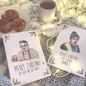 Reszkessetek betörős üdvözlőlap szett - 2db-os Karácsonyi kézműves kinyitható üdvözlőlap , Otthon & lakás, Karácsony, Dekoráció, Ünnepi dekoráció, Ajándékkísérő, 2 db karácsonyi lap egy csomagban  Kinyitható üdvözlőlap borítékkal, kézzel rajzolt illusztrációmmal..., Meska