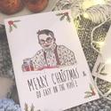 Reszkessetek betörős üdvözlőlap - FULLER Karácsonyi kézműves kinyitható üdvözlőlap , Otthon & lakás, Karácsony, Dekoráció, Ünnepi dekoráció, Ajándékkísérő, 1 db karácsonyi lap  Kinyitható üdvözlőlap borítékkal, kézzel rajzolt illusztrációmmal. A lap anyaga..., Meska