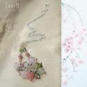 Spring blossom drótészer nyaklánc ásványokkal , Ékszer, Nyaklánc, Tavaszi friss színeket idéző achátokkal rózsakvarccal, labradorittal, amazonittal, rodonittal, prehn..., Meska