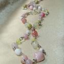 Sweet candy hosszú drótékszer ásvány nyaklánc, Ásvány és gyöngy nyaklánc a pasztell cukorkas...