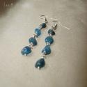 Kék kianit ásvány fülbevaló, 6-8 mm-es szabálytalan kianit ásvány nuggetek f...