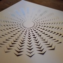 Papír 3D mandala, Dekoráció, Férfiaknak, Otthon, lakberendezés, Dísz, 250 g-os fehér papírból készült 3D mandala.  Mérete: 70 x 70 cm. A termék elkészülési idej..., Meska
