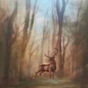 """""""Erdőben"""" festmény, Képzőművészet, Festmény, Olajfestmény, Festészet, 50X70-es feszített vászonra festett olajképem. Témáját a közeli erdőkben tett séta ihlette. A képet..., Meska"""