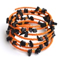 - 40% Narancsos étcsoki karkötő, Ékszer, Karkötő, A TERMÉK MOST AKCIÓSAN 1320,-FT-ÉRT VÁSÁROLHATÓ MEG!  A memória karkötő alapra narancssárg..., Meska