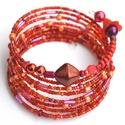 Piroska málnaszörp karkötő, Ékszer, óra, Dekoráció, Esküvő, Karkötő, A karkötő gyönyörű élénk piros színű, amely garantáltan vonzza a tekinteteket! Amennyiben ..., Meska