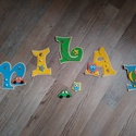 MILÁN - Bababetű, Baba-mama-gyerek, Dekoráció, Otthon, lakberendezés, Gyerekszoba, Mindenmás, Festészet, Dekorgumiból készűlt, akril festékkel, aranyos figurákkal,hungarocell golyókkal vannak díszítve. há..., Meska