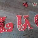 LUCA - Bababetű, Baba-mama-gyerek, Dekoráció, Otthon, lakberendezés, Gyerekszoba, Mindenmás, Bájos , katicás név Dekorgumiból készült kartonra vannak felragasztva , aranyos figurákkal vannak d..., Meska
