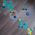 ROLI - Bababetű, nevek, babaváró, Baba-mama-gyerek, Dekoráció, Otthon, lakberendezés, Gyerekszoba, Mindenmás, Festészet, Dekorgumiból készűlt, akril festékkel, aranyos figurákkal díszítve.  Mérete 11 cm  Hátoldalán ragas..., Meska