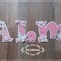 Dalma - 5betűs dekorgumi babanevek betűk , Dekorgumiból készítem a neveket, kartonra vanna...