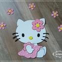 Hello Kitty dekorgumi falmatrica, Baba-mama-gyerek, Dekoráció, Otthon, lakberendezés, Gyerekszoba, Újabb taggal bővült a figuráink sora, mostmár Hello Kitty is rendelhető.  Dekorgumiból készítem , ka..., Meska