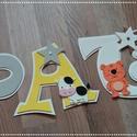Állatkert - Patrik babanév betű nevek, Baba-mama-gyerek, Dekoráció, Otthon, lakberendezés, Gyerekszoba, Mindenmás, Dekorgumiból készítem a neveket, kartonra vannak felragasztva. Hátoldalon ragasztóval.  Mérete 15c,..., Meska