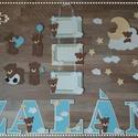 Zalán - Mackós babaszoba dekoráció nevek betűk , Baba-mama-gyerek, Dekoráció, Otthon, lakberendezés, Gyerekszoba, Egyedi dekoráció babaszobába dekorgumiból.  Kartonra vannak felragasztva, hátoldalon ragasztóval.  N..., Meska