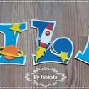 Milán Repulős Babanév Babalátogatóba Névnapra, Dekoráció, Otthon, lakberendezés, Baba-mama-gyerek, Gyerekszoba, Rendelésre készítem a neveket dekorgumiból. Bármelyik nevet kérheted ilyen díszítéssel.  Mérete 11 c..., Meska