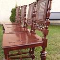 Ónémet székek , Bútor, Szék, fotel, Famegmunkálás, Eladó 4 db felújított ónémet szék. Tisztítás és famunkák javítása után felülete lazúrozva lett, így..., Meska