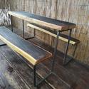 Gyermek piknik asztal, pad, ülőke, kisasztal, Baba-mama-gyerek, Bútor, Gyerekszoba, Gyerekbútor, Fémmegmunkálás, Famegmunkálás, Piknikasztal gyerekeknek!  Egy ideális mobil kerti kiülő gyermekek számára. A fa rèsze kemèny akácf..., Meska