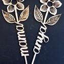 Fa virág (ad 579), Dekoráció, Szerelmeseknek, Méretük 15*30 cm   Anyaga 4 mm falemez   Natúr felületűek , festhető , dekupázsolható.   Vá..., Meska