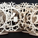 Esküvői asztalszámok 1-20-ig, Dekoráció, Esküvő, Ünnepi dekoráció, Esküvői dekoráció, Asztalszámok 1 től 20 ig.  Anyaga falemez 4mm vastag  Mérete 20x20x 5 cm, Meska