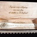 Szülő köszöntő ajándék fakanál., Esküvő, Nászajándék, Szülőköszöntő fakanál A fakanál nyelén a szöveg választható. Doboz mérete 32 x 12 x 4 cm Anyaga fale..., Meska
