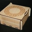 Görög mintás doboz 005, Otthon, lakberendezés, Anyaga: 4 mm-es fa lemez Mérete: 7,5 x 16 x 14 cm Lepd meg magadat, kedvesed, ismerősöd egy mutatós,..., Meska