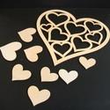 Szív halmaz 0001, Dekoráció, Szerelmeseknek, Otthon, lakberendezés, Anyaga: 4 mm-es fa lemez Méretei:  - nagy szív forma 14 x 14 cm - kis szivek 7 db, 3cm-től 7 cm-ig..., Meska
