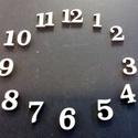 Óralap számok (arab)  alapanyag trnaszfer és pirograf technikához , Dekoráció, Otthon, lakberendezés, Falióra, óra, Méret: 2 cm anyafa: Fa lemez   vastagsága: 4 mm Rendelhető 6mm, 8 mm vastagságban és más mére..., Meska