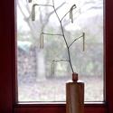 Faváza, Otthon & Lakás, Dekoráció, Váza, Famegmunkálás, Száraz dekor és aromanövények számára készített, egyedi almafa váza. Természetes alapanyagú auro ol..., Meska