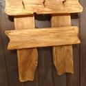 Fogas, Rusztikus, fából és kézzel kovácsolt acél sz...
