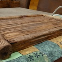 Rusztikus tálca, Tömör fából készült rusztikus tálca. Méret...