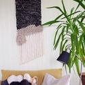 Éjjelnappal - modern fali szőttes / woven wall hanging, Dekoráció, Otthon, lakberendezés, Lakástextil, Falikép, Szövés, Falra akasztható szőtt fali dekoráció, fiatalos skandináv vagy bohemian stílusú lakásokba.  A szőtt..., Meska