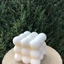 Triple Bubble, Otthon & Lakás, Dekoráció, Gyertya & Gyertyatartó, Gyertya-, mécseskészítés, Szójaviaszból készült buborék gyertya.  Elkészítési idő: kb. egy nap Méret: 6x6 cm Szójából készül ..., Meska
