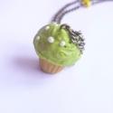 Almazöld muffin nyaklánc, Egy édes, almazöld krémes muffint készítettem...