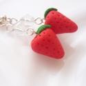 Eper fülbevaló, Ezeket a friss, piros epreket kisüthető gyurmáb...