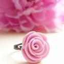 Rózsaszín rózsa gyűrű, Csodaszép babarózsaszín rózsás gyűrű kisüt...
