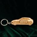 Kulcstartó Audi!, Pyrograph lézertechnológiával megrajzolt,majd t...