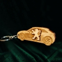 """Kulcstartó """"Peugeot""""!, Pyrograph lézertechnológiával megrajzolt,majd t..."""