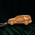"""Kulcstartó """"Land Rover""""!, Pyrograph lézertechnológiával megrajzolt,majd t..."""