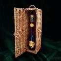 Fonott italos ládika, Hazai nevelésű fűzfavesszőből elkészített 4...