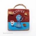 coffee, egyedi rusztikus fa dekoracio.  falra akaszthato. ...